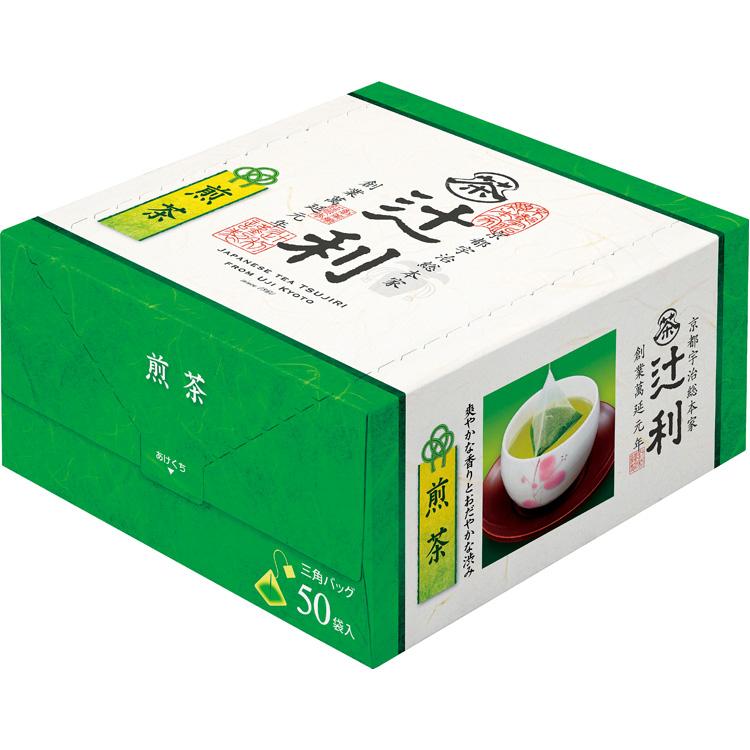 <辻利>煎茶三角ティーバッグ(50袋) 飲料・酒
