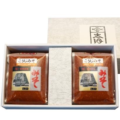 小田急オンラインショッピング[塩屋醸造] こうじ味噌化粧箱入り(1kg×2) グロサリー・調味料