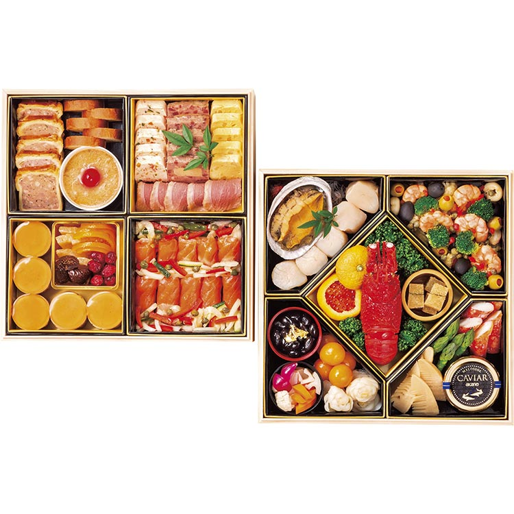 128<帝国ホテル>洋風おせち料理 二段重(24品目) 有名ホテル