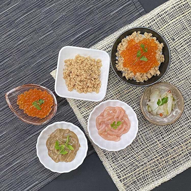 [小町園]鮭親子と塩辛づくしセット 和惣菜・米飯