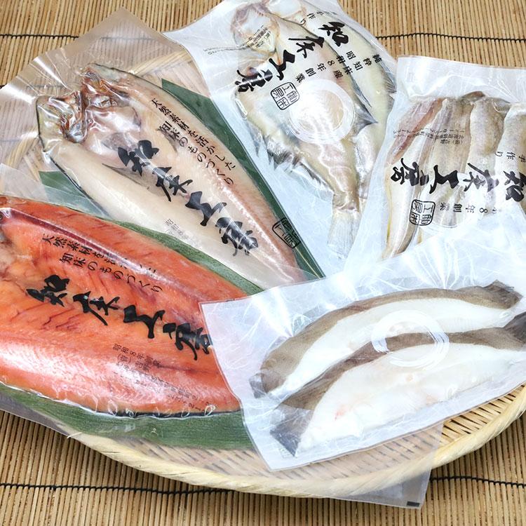 [知床工房よしの]知床一夜干し詰め合わせ S1 干物・漬魚・うなぎ・魚卵
