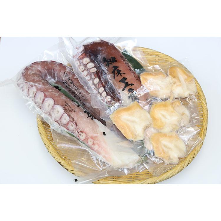 [知床工房よしの]つぶ貝とたこの刺身セット S4 干物・漬魚・うなぎ・魚卵