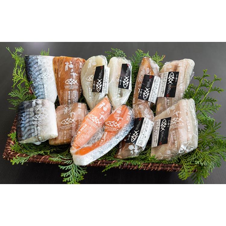 [梅のや]売れ筋6種セット 干物・漬魚・うなぎ・魚卵