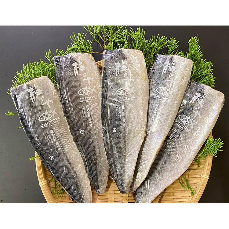 [梅のや]さば塩フィレ5枚セット 干物・漬魚・うなぎ・魚卵