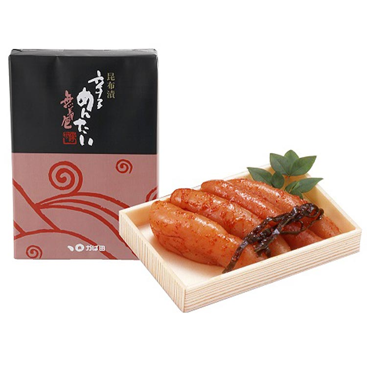 [かば田食品]無着色昆布漬辛子めんたい 220g 干物・漬魚・うなぎ・魚卵