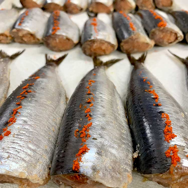 [あき津゛]鰯めんたい 8尾 干物・漬魚・うなぎ・魚卵