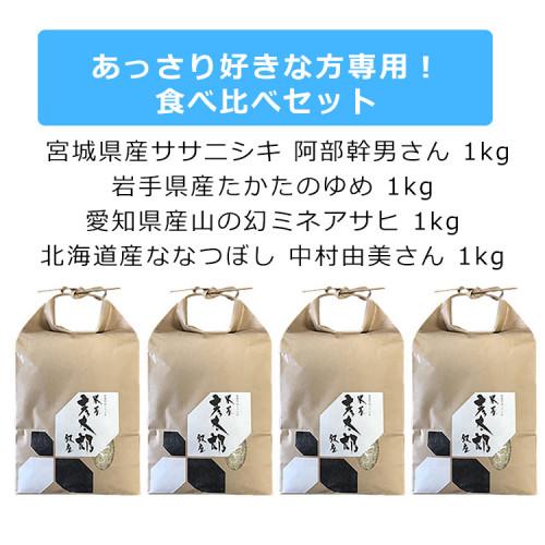 米屋彦太郎厳選米セット-あっさり好きな方専用!食べ比べセット 小田急厳選こだわりのお米