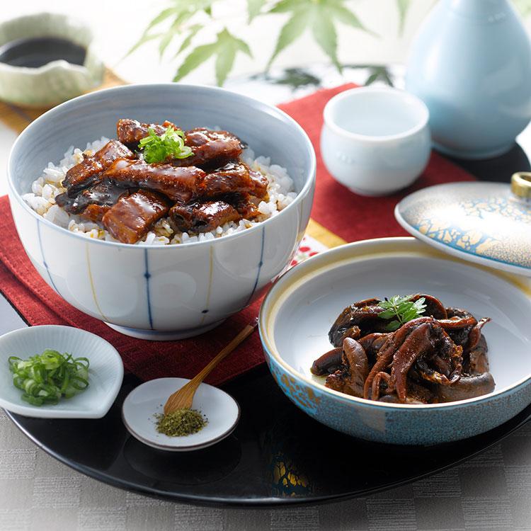 愛知・うなぎ割烹「一愼」うな丼セット 干物・漬魚・うなぎ・魚卵