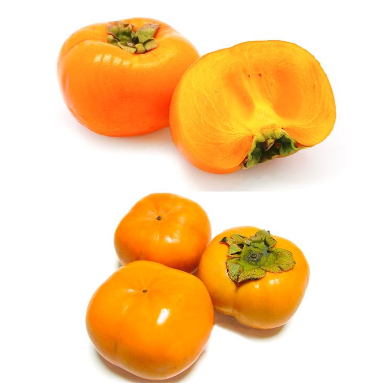 【食べ比べ】種なし柿(約3キロ)&次郎柿(約3キロ) 食べ比べセット