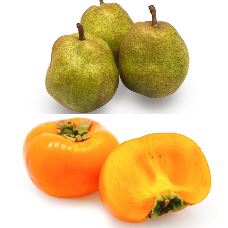 【食べ比べ】ラフランス(3個)&種なし柿(5個) 柿&洋ナシセット