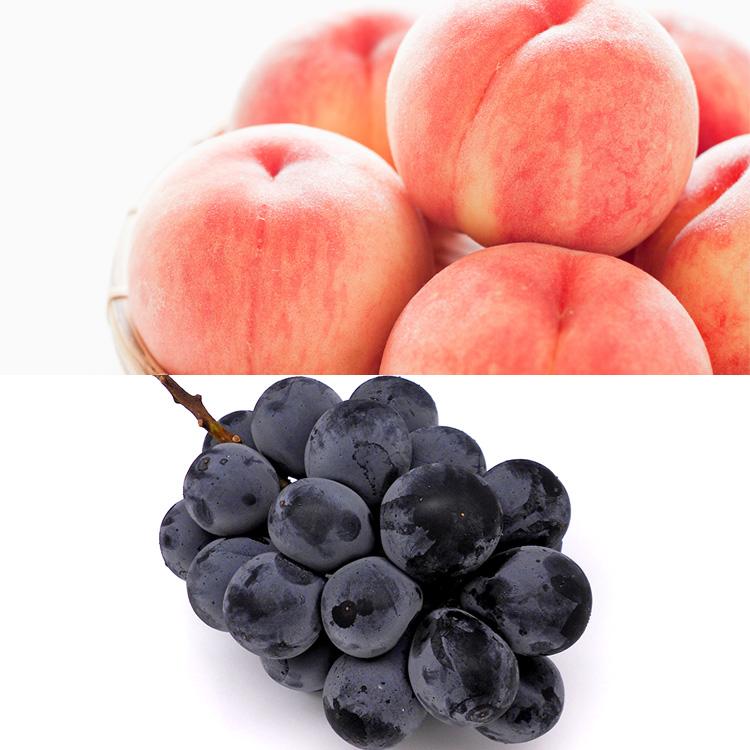 福島県産もも&岡山県産種なしピオーネ 桃