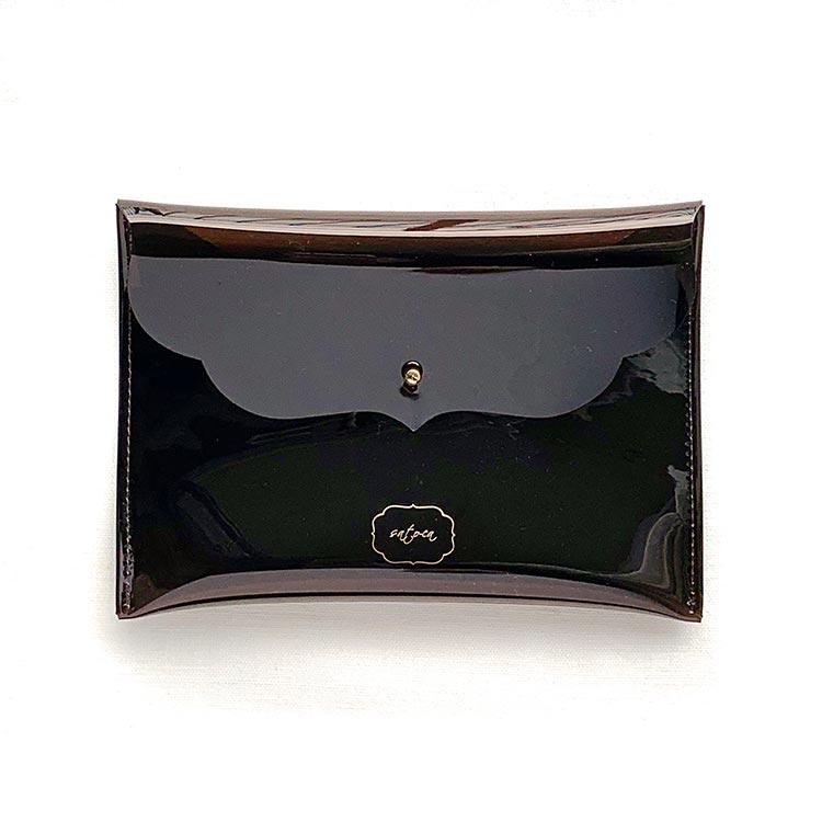 [sato-ca(サトカ)]丸ごと洗えるマスクケース ダークブラウン マスク関連アイテム