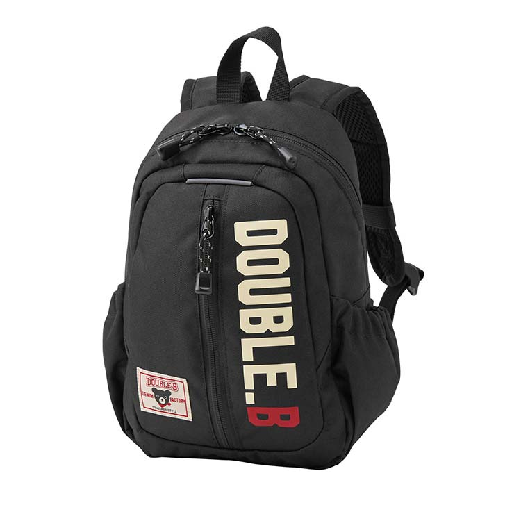 小田急オンラインショッピング[ミキハウス ダブルB]ロゴ入りリュック S 黒 バッグ・リュック・袋物